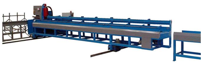 Mobile Rebar Shearing line - conveyor unloading
